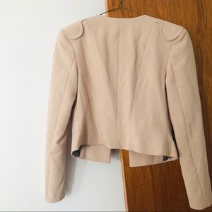 H&M Jackets & Coats - H&M Cream Cropped Blazer Women's Sz 4 Camel Color